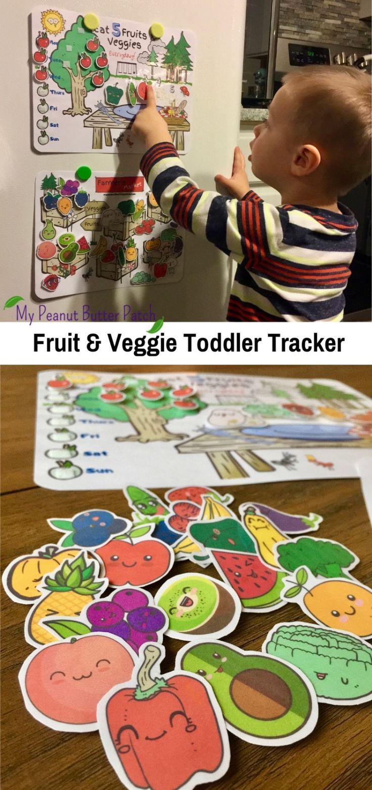 Fruit and Veggie Chart, Behavior Chart for Kids, Reward ...
