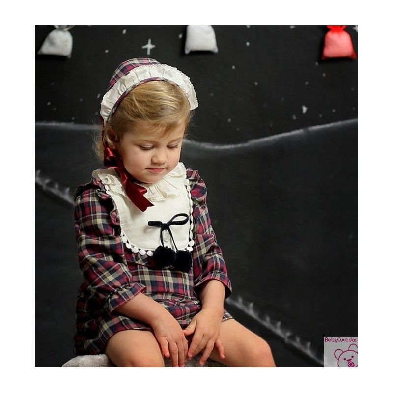 4a57a4d5b Vestido Hojas Foque. Vestido para niña Hojas de Foque Invierno 2017 ...