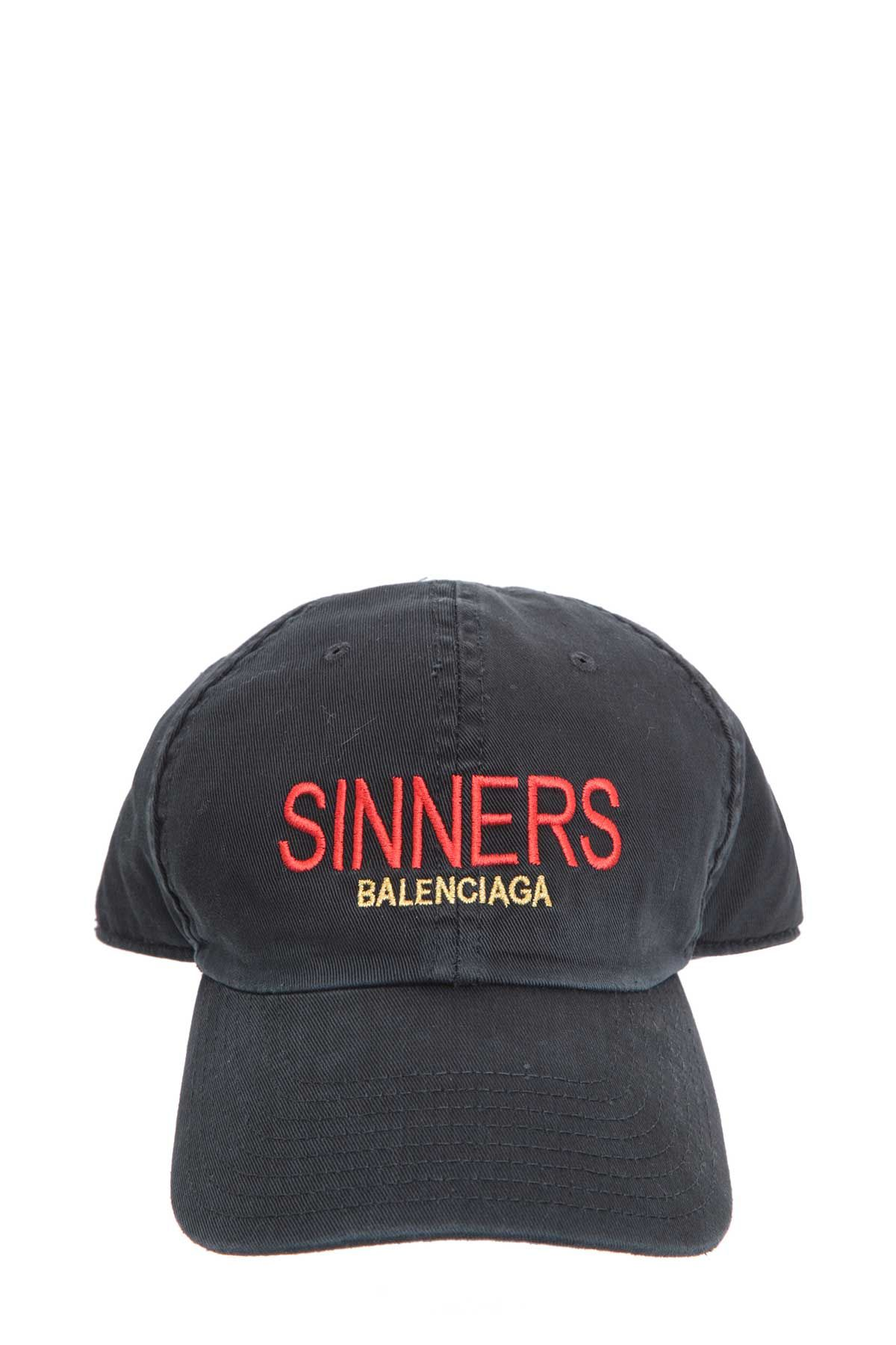 e2a2ed900833d BALENCIAGA SINNERS BASEBALL CAP.  balenciaga