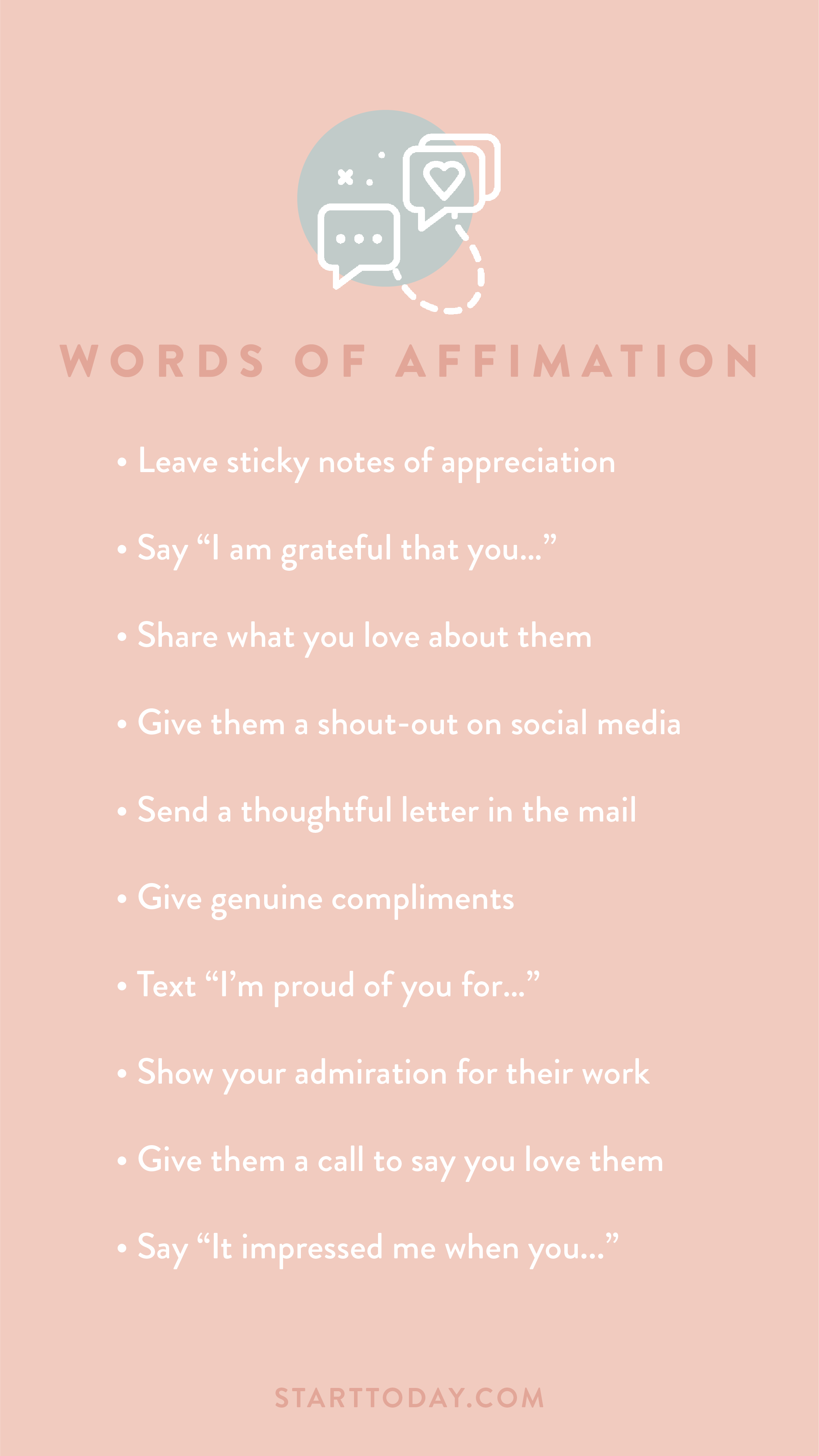 Of affirmation words Love Languages