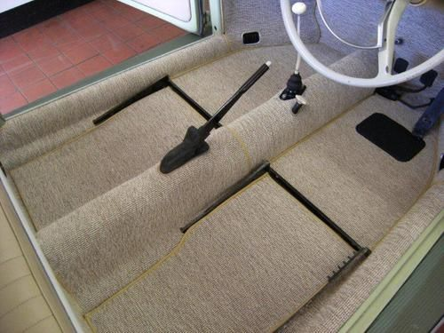Oatmeal Squareweave Carpet Fusca Volkswagen Estofamento Automotivo Fusca Customizado