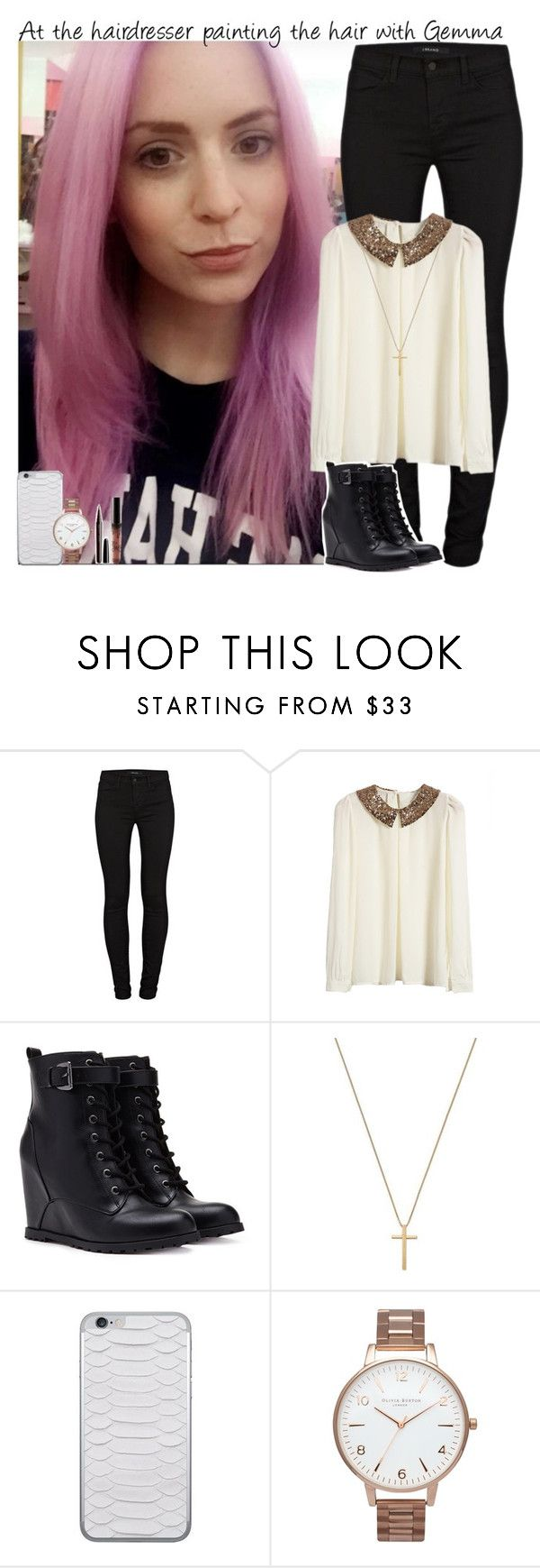 """""""At the hairdresser painting the hair with Gemma"""" by giovannacarlamalik ❤ liked on Polyvore featuring J Brand, Forever 21, Gucci, Jamie Clawson, Olivia Burton and Marc Jacobs"""