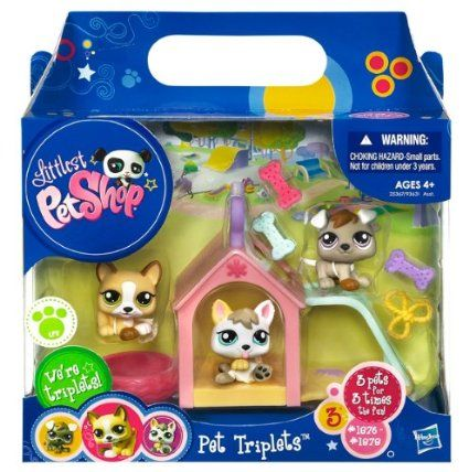 Amazon Com Littlest Pet Shop Pet Triplets 3 Pack Puppies Toys Games Lps Pets Lps Toys Lps Crafts