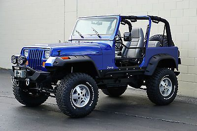 Ebay 1995 Jeep Wrangler Rio Grande Sport Utility 2 Door 1995 Jeep Wrangler Rio Grande Sport Utility Yj Blue Metallic Jeep Wrangler 1995 Jeep Yj Jeep Wrangler