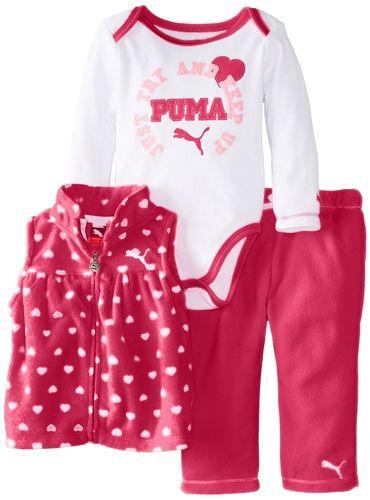 233ccd78eece44 Amazon.com  PUMA Baby-Girls Newborn 3 Pack Vest New Born Pant Set  Clothing