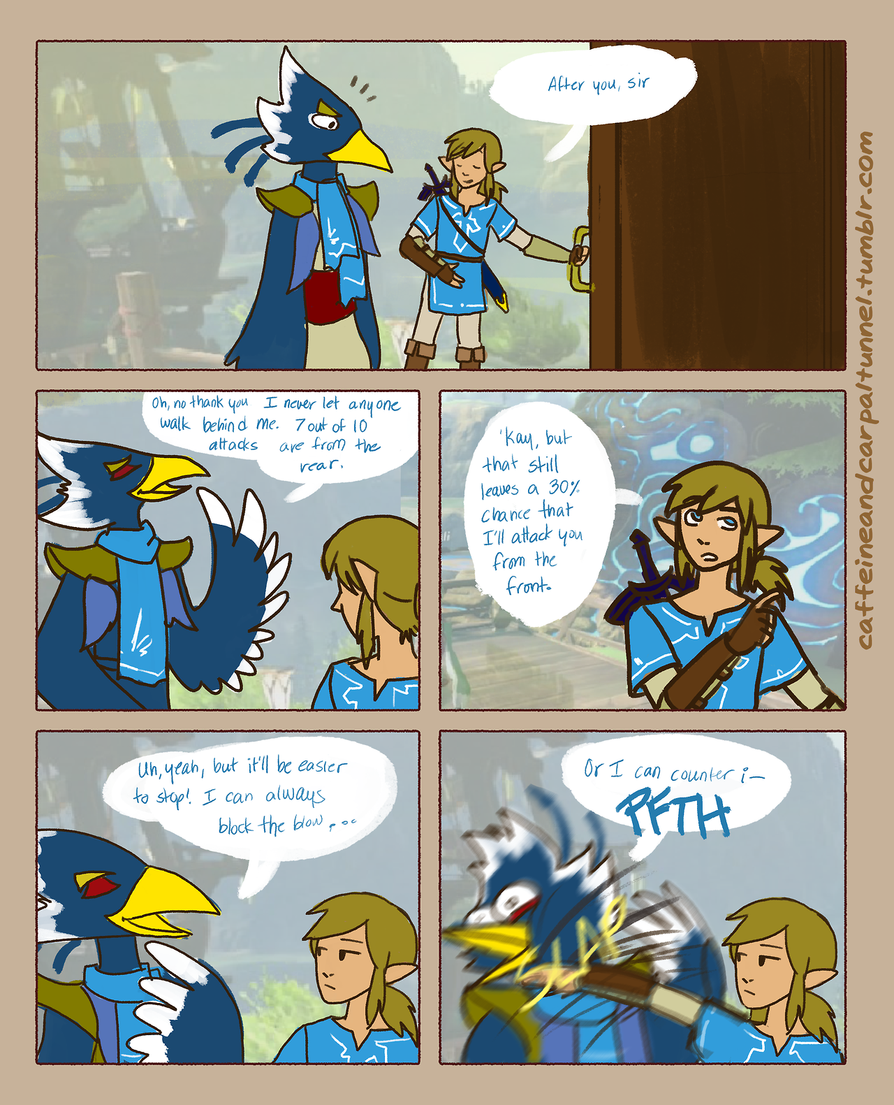 Zelda Quotes Revali And Link  Legend Of Zelda Breath Of The Wild  Fan Comics