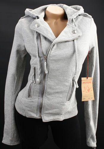 97f87e97b True Religion Moto Fleece Zip Hoodie Jacket Sweatshirt