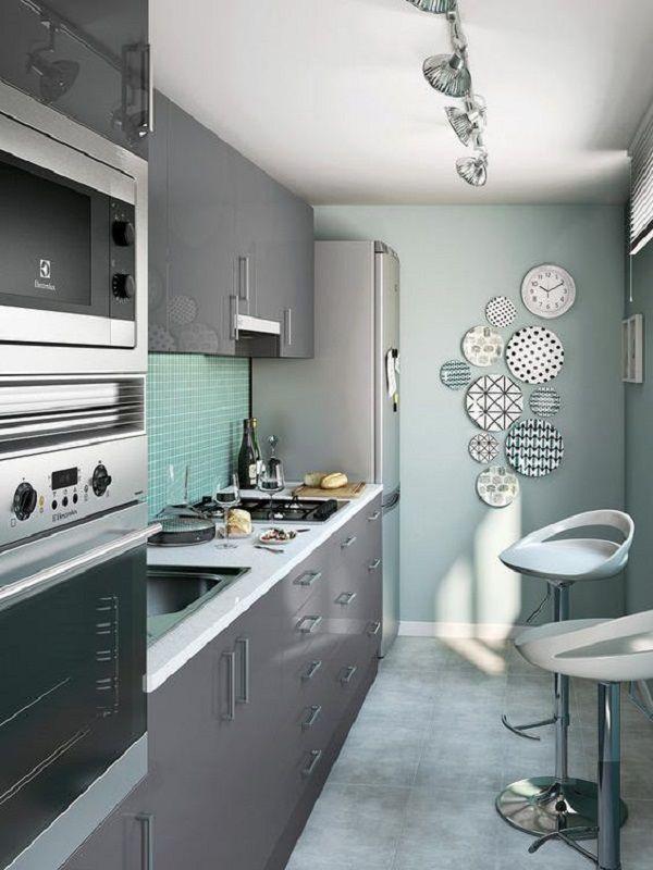 Tipos de cocinas en linea en tonos de gris cocinas for Cocinas en linea