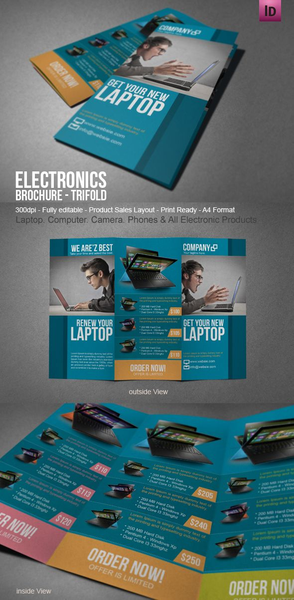laptop electronic brochure brochures pinterest brochure
