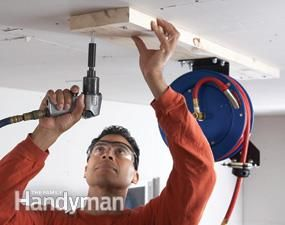 Air Hoses Install A Retractable Air Hose Reel New Home