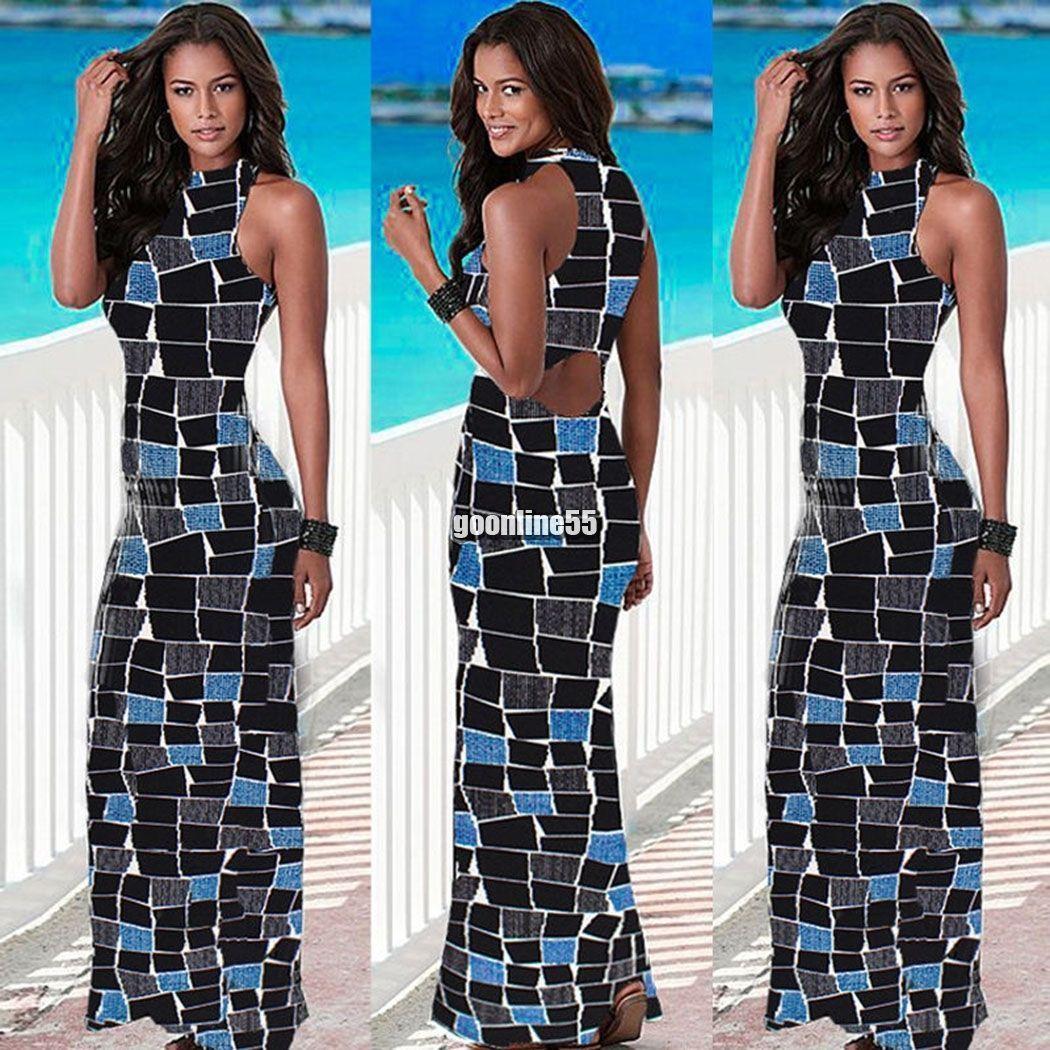 Women summer boho long maxi evening party long dress beach dresses