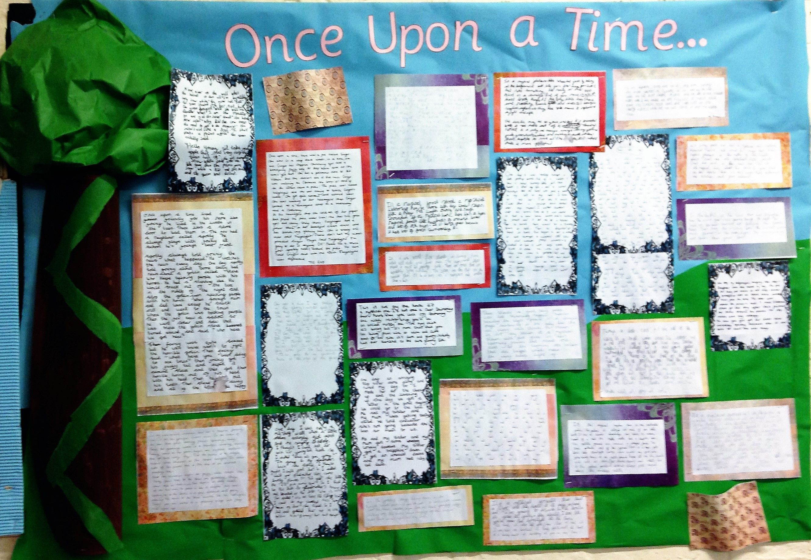 KS2 English Fairy tales/ Traditional tales display. Once