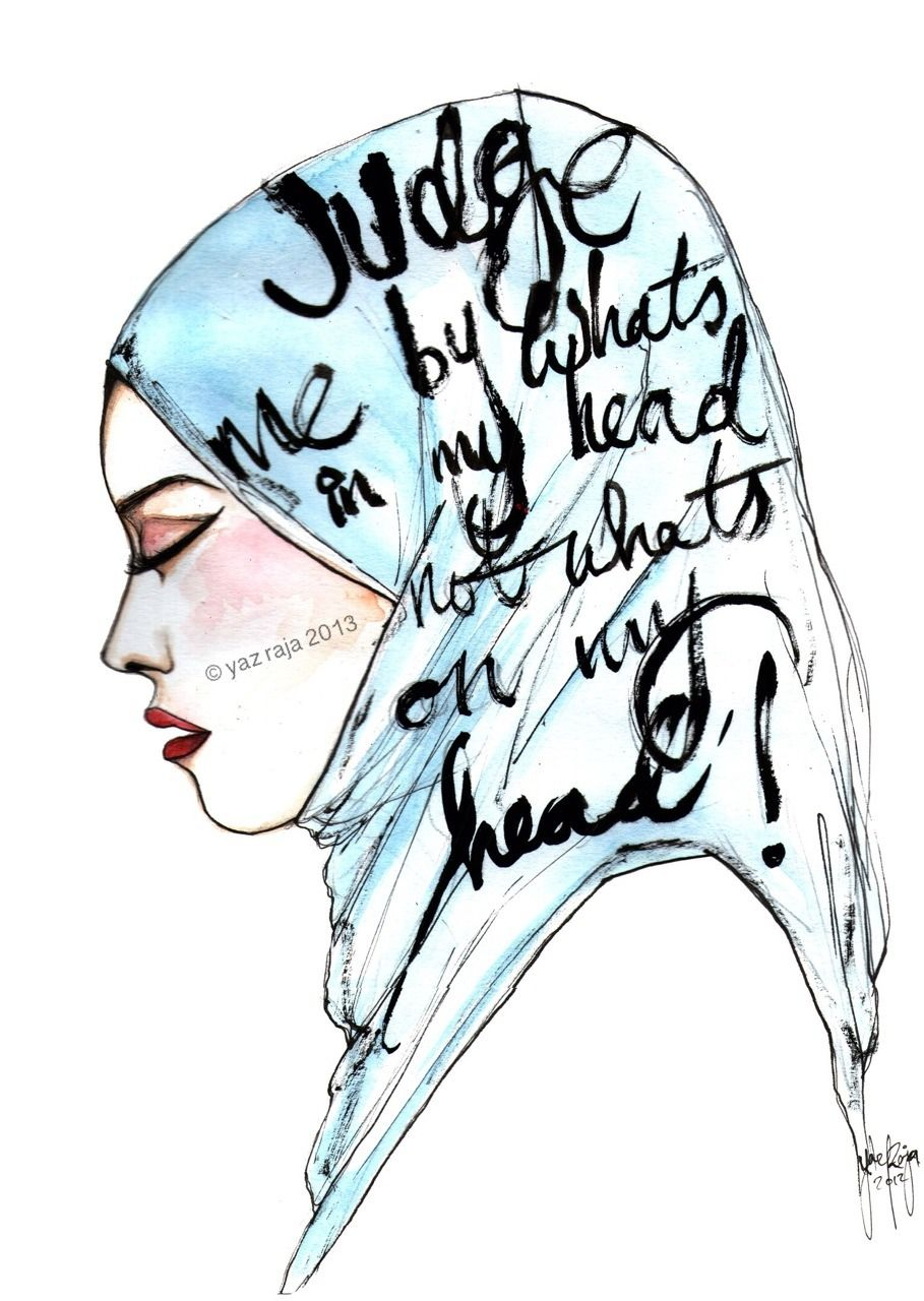 Amazing hijab illustration by a talented artist yaz raja mashallah thank you for the submission yaz more art and info www yazraja blogspot co uk