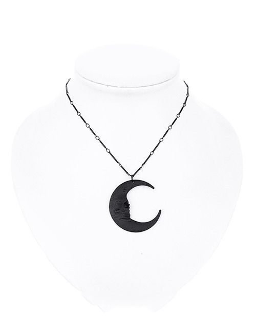 """Collier Gothique Restyle """"Skull Moon Black"""""""