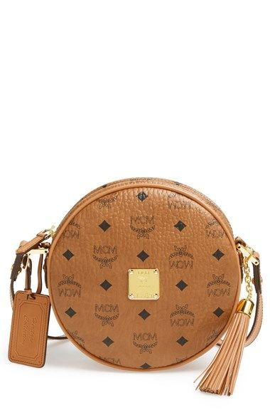 3541c72dc MCM 'Heritage Tambourine' Coated Canvas Crossbody Bag available at  #Nordstrom