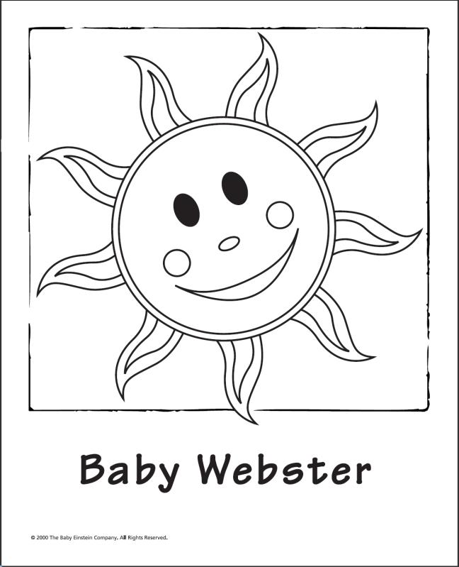 Gallery For Gt Baby Webster Flash Cards Baby Einstein Coloring Books Einstein