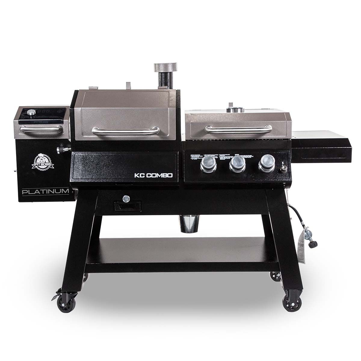 Pit Boss Kc Combo Platinum Series Wifi And Bluetooth Wood Pellet And Gas Grill Walmart Com In 2020 Wood Pellet Grills Gas Grill Wood Pellets