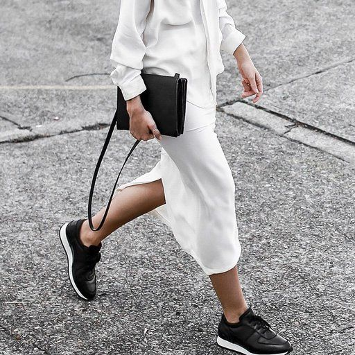 The Modern Legacy wears all white with black accessories | Shop the Look at Fashiolista.com