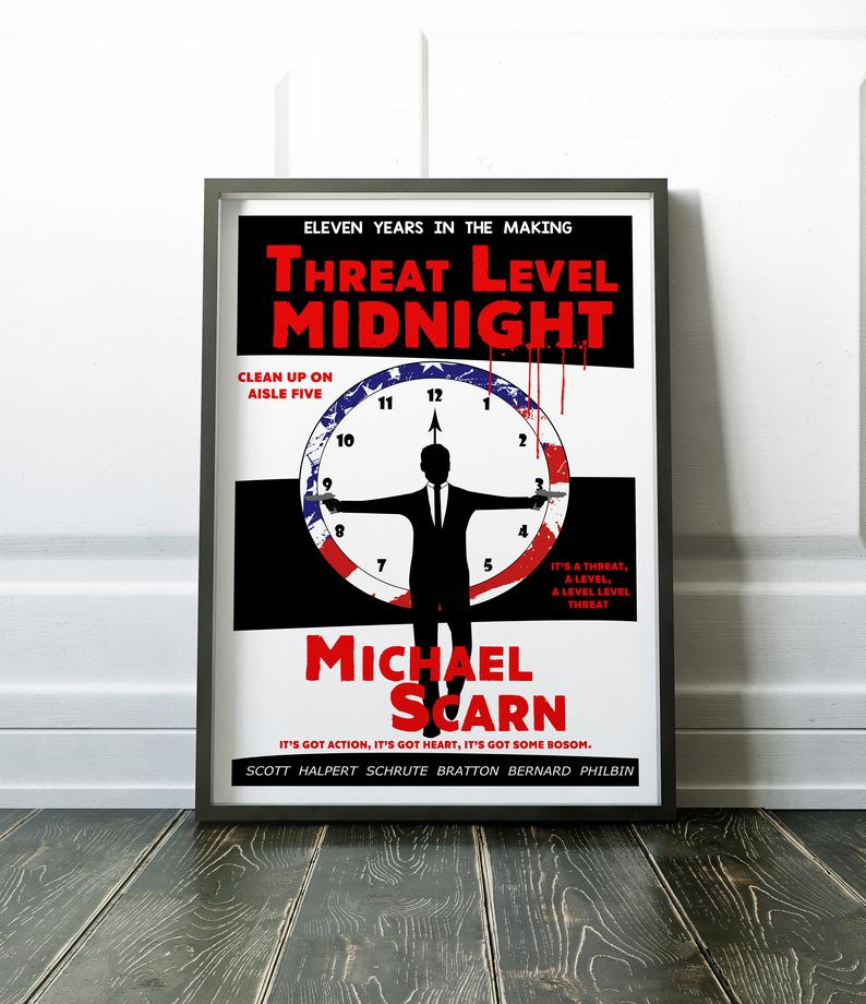 Threat Level Midnight Poster The Office tv show pr