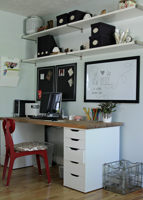 le bureau homemade by ikea d heather de the lovely cupboard