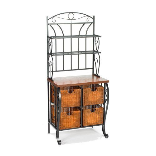 Home Decorators Collection Ironwicker Bakers Rack Want To