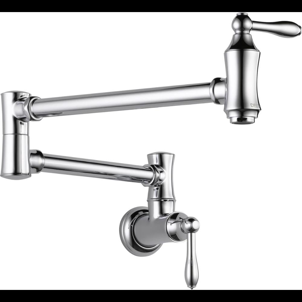 Delta 1177lf Build Com In 2020 Pot Filler Faucet Wall Mount Kitchen Faucet Pot Filler