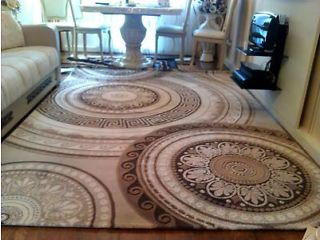 beautiful, brand new Versace carpet !!! SILVER!!! West Green Road Picture 1