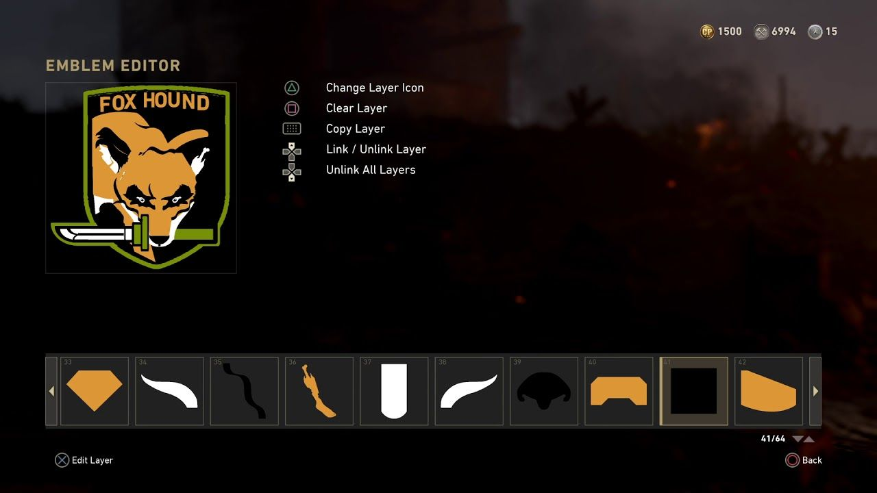For Those Interested In How I Made The Foxhound Logo On Call Of Duty WWII Diamond Dogs And Fox Coming Soon MetalGearSolid Mgs MGSV MetalGear Konami