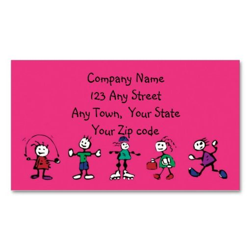Day carechild care teacher or babysitting business card business day carechild care teacher or babysitting business card fbccfo Image collections