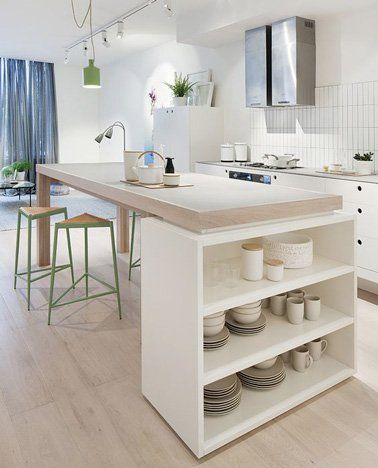 DIY déco  Un ilot de cuisine à faire avec 3 fois rien - faire extension maison pas chere