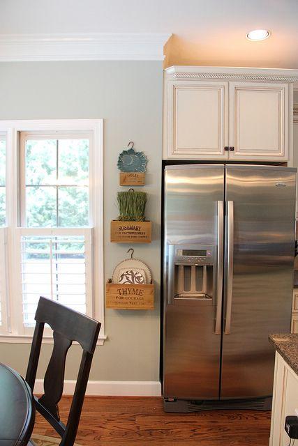 Wall color - Restoration Hardware Silver Sage | Kitchens | Pinterest