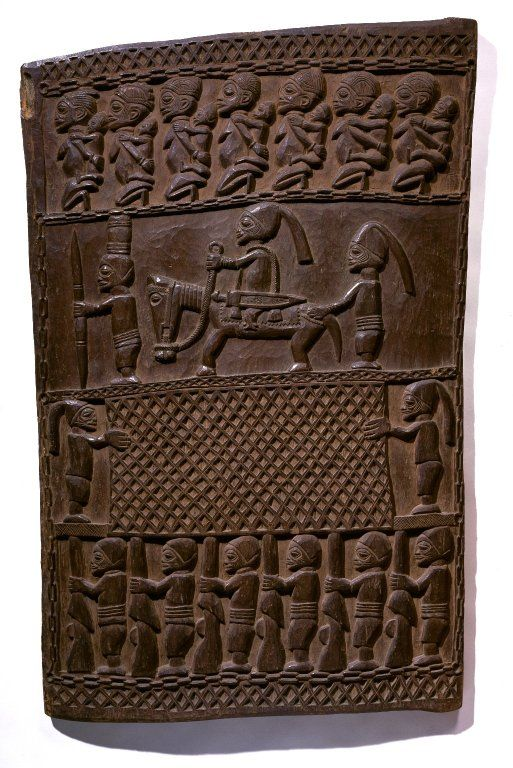 Door (Ilekun)  The Yoruba often install doors carved in low relief in places frequented by people of special distinction.Artist: Master of Ikare  Culture: Yoruba  Medium: Iroko wood  Place Made: Ikare, Ondo State, Nigeria  Dates: late 19th century