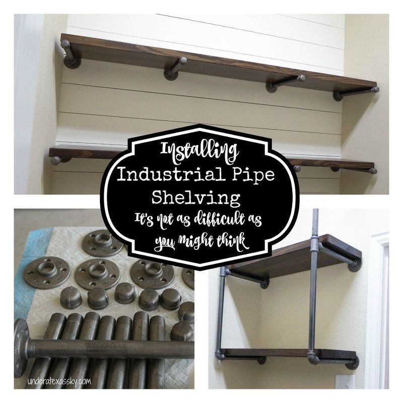industrial iron pipe shelving, rustic furniture, shelving ideas