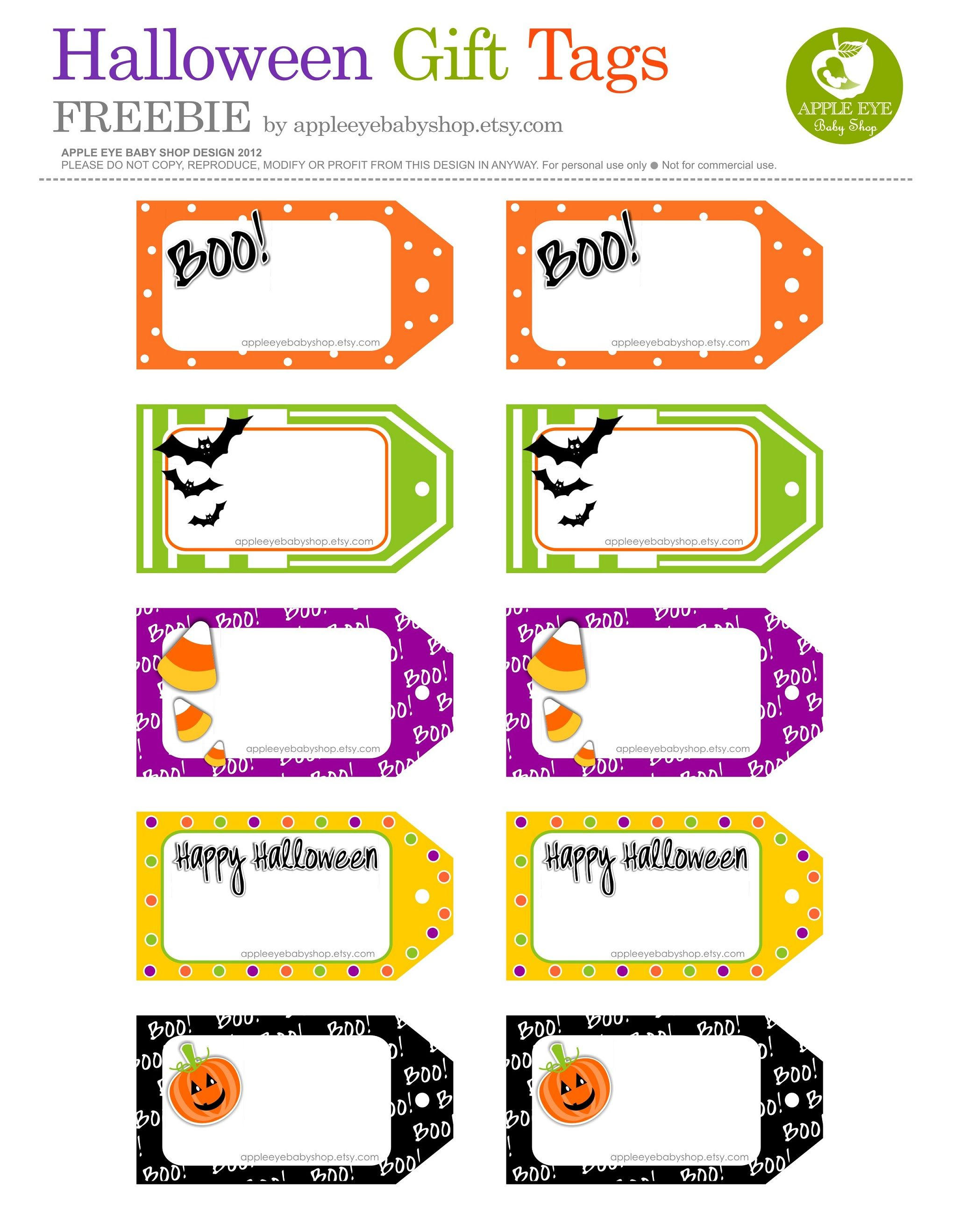 Free Printables Halloween Gift Tags Diy Crafts Projects