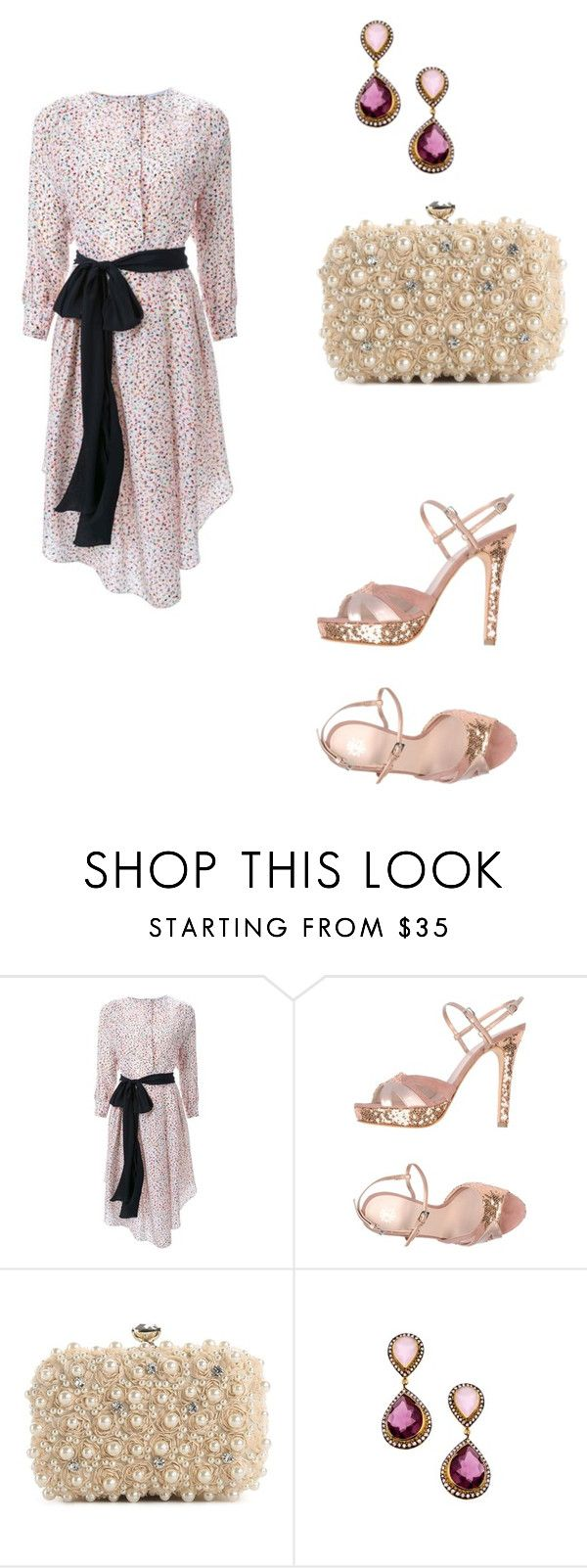 """""""Untitled #122"""" by rebeccahemphill ❤ liked on Polyvore featuring Jonathan Saunders, De Siena, Lulu Townsend and Meghna Designs"""