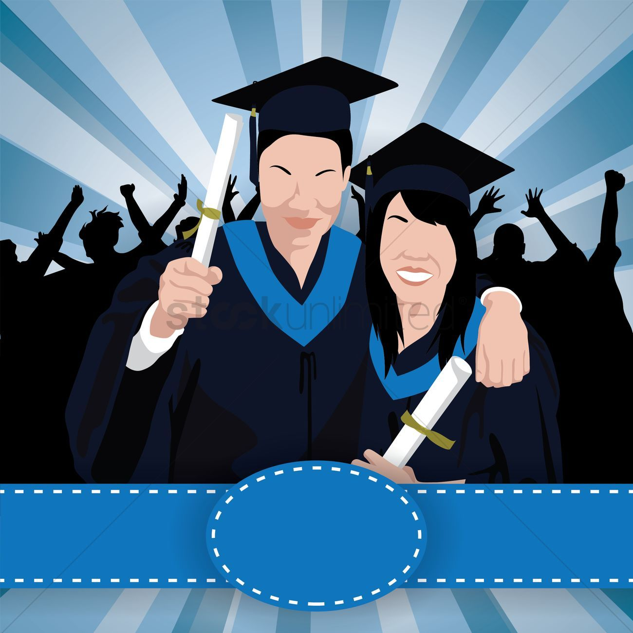 Photo of Graduation wallpaper vector illustration , #affiliate, #wallpaper, #Graduation, …