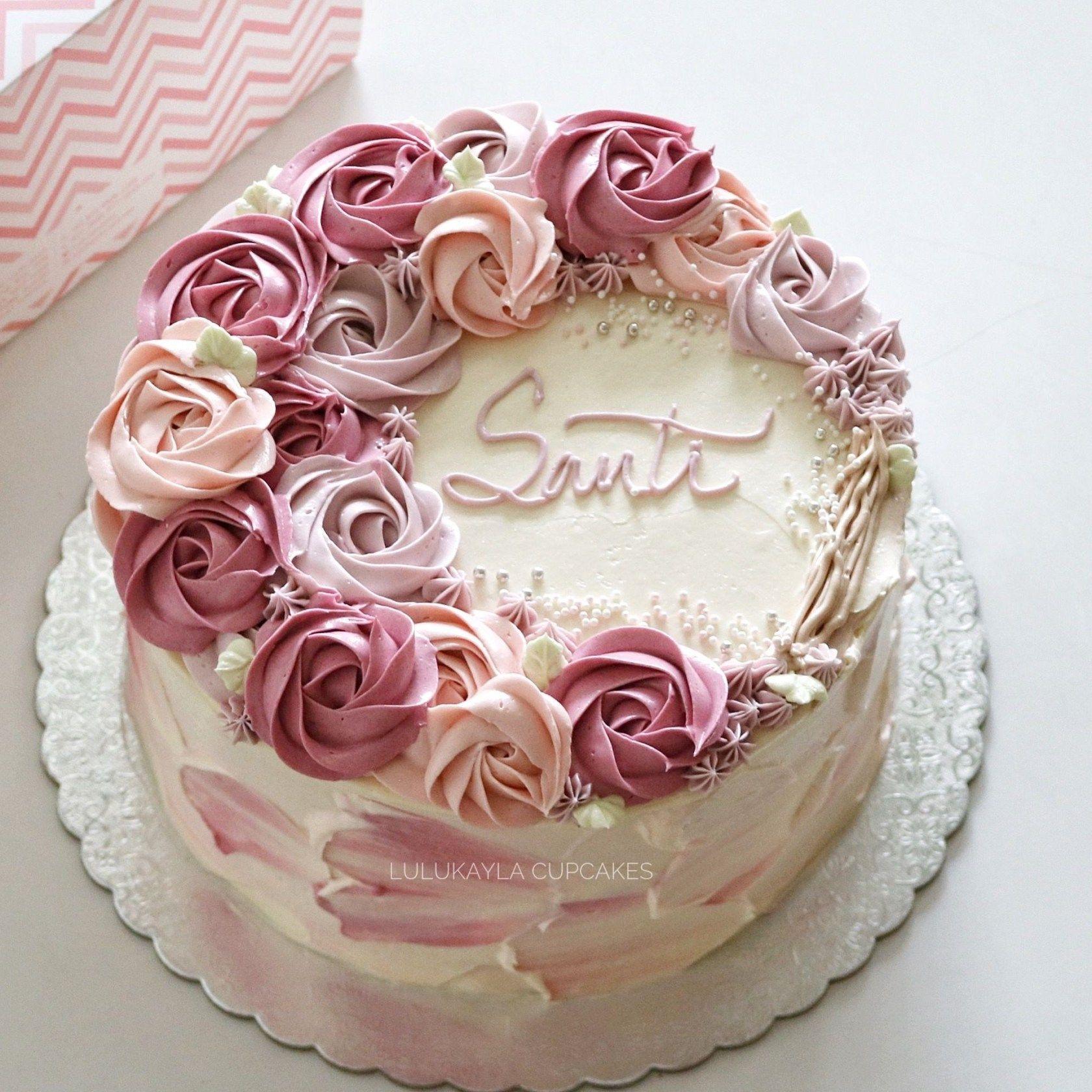 Birthday Cakes With Flowers Flower Buttercream Cake Torten