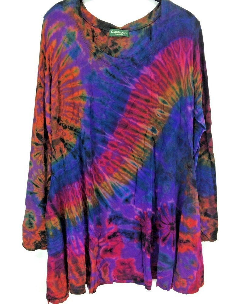 fa1fef0a281a5c Lavender Pink & Grey Tie Dyed Long Sleeve Blouse Size Large | Discount  Fashion Closet Sale! | Blouse, Tie dye long sleeve, Clothes for women