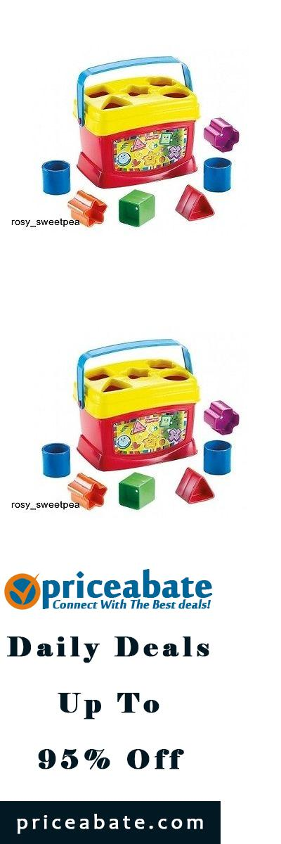 #priceabatedeals Fisher-Price Brilliant Basics Baby's First Blocks Shape Sorter Bucket - Buy This Item Now For Only: $11.75