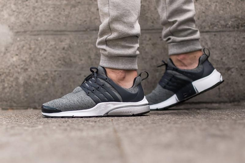 0fd42d5c3b0b 2016  Air  Presto TP QS Tech Fleece Black And Grey  812307-002 Sport  Running shoes flat shoes creepers Sock-Dart PU Sole Runner Sneakers