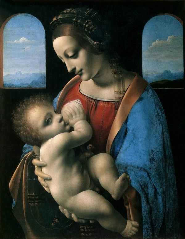 LEONARDO DA VINCI VIRGEN DE LA LECHE 1490-1491