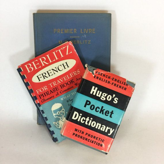 Vintage French Language Books French Phrase Guide Berlitz For