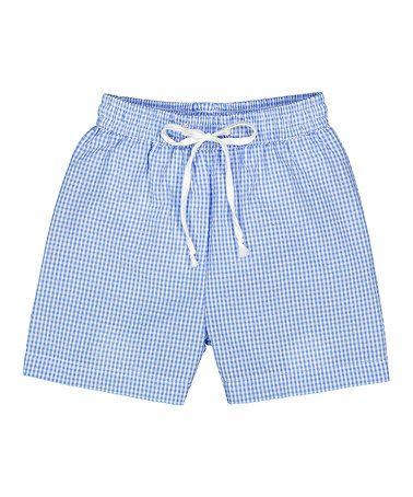 5b2c634ad64 Look at this  zulilyfind! Light Blue Seersucker Swim Trunks - Infant ...