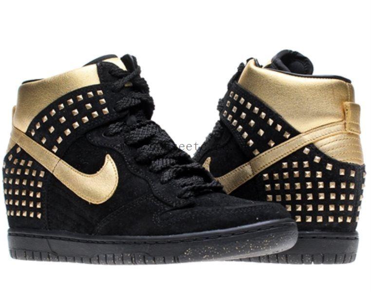 Uk Nike Wmns Dunk Sky Hi Gold Stud  ad63adb55