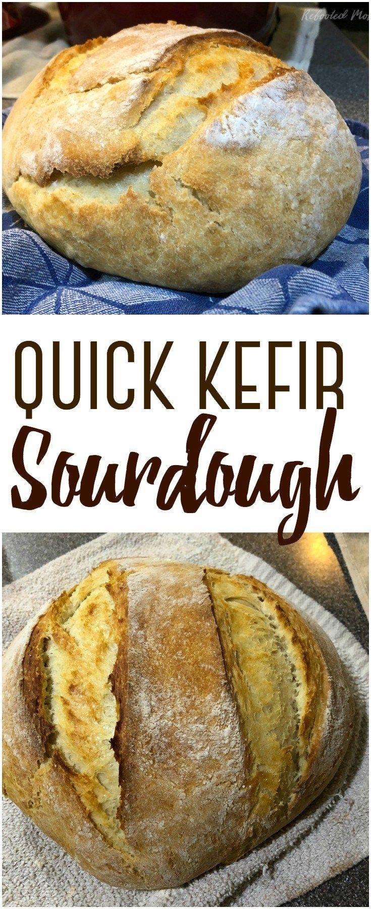 Make A Successful Quick Kefir Sourdough Bread Using Kefir Fermented Milk In Lieu Of A Sourdough Starter It Bakes Up Beautifully Kefir Recipes