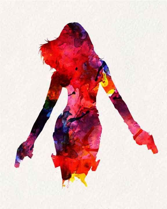 Avengers Watercolor: Black Widow _ Watercolor