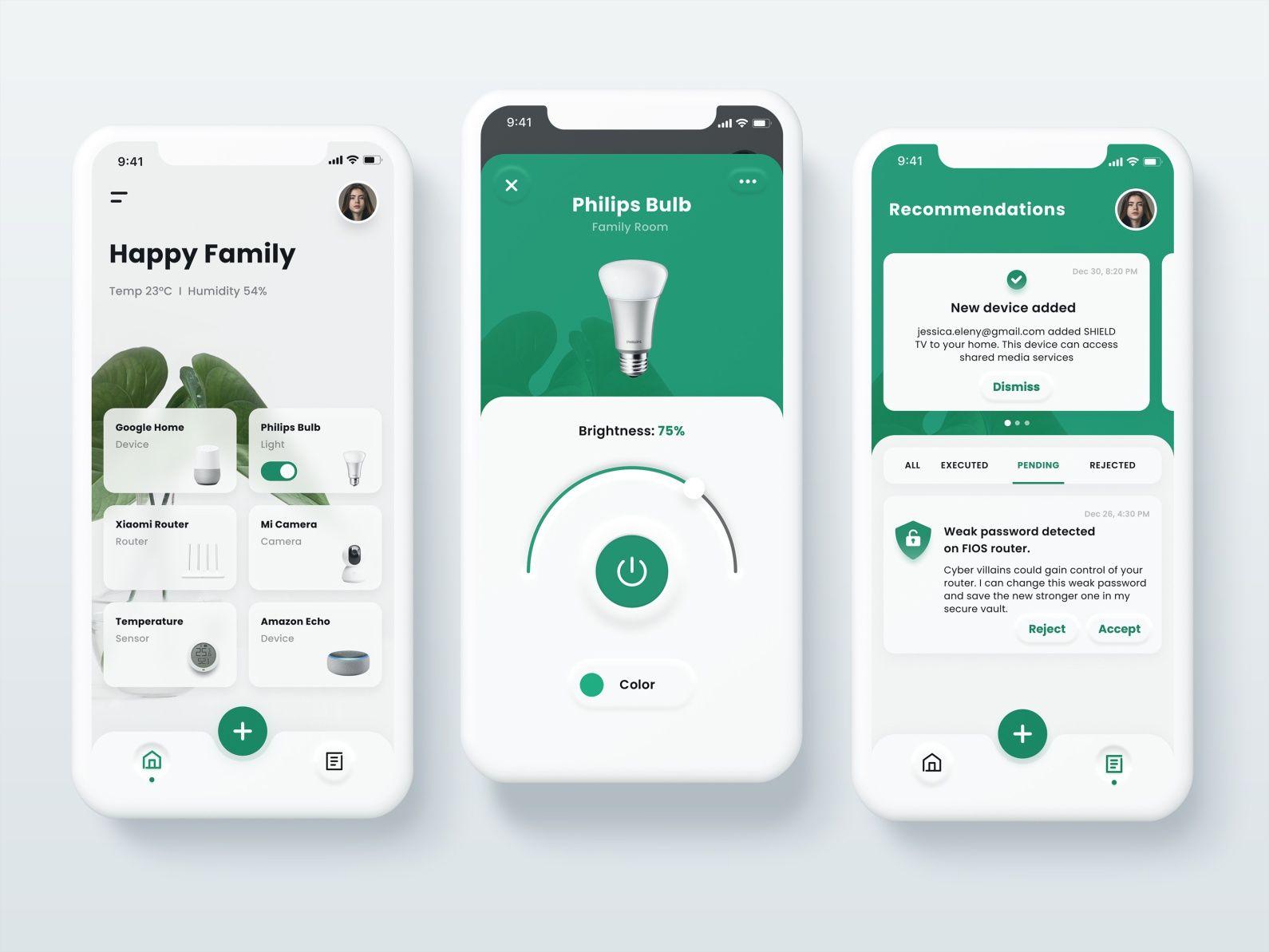 Smart Home App Concept Smarthome App Smart Home App Design Inspiration