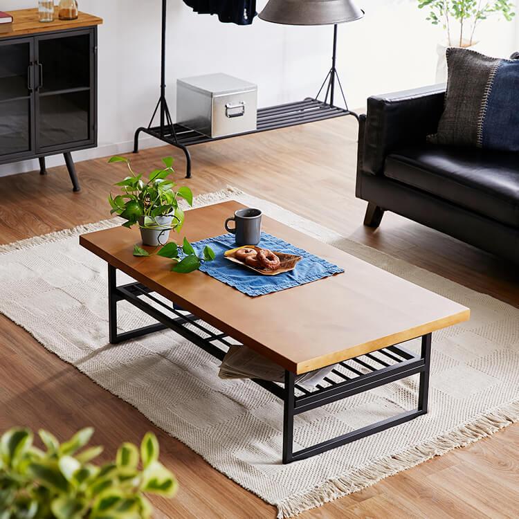 ヴィンテージ風がおしゃれな折りたたみローテーブル ダークブラウン ヴィンテージブラウン 公式 Lowya ロウヤ 家具 インテリアのオンライン通販 ローテーブル ローテーブル 折りたたみ リビングテーブル