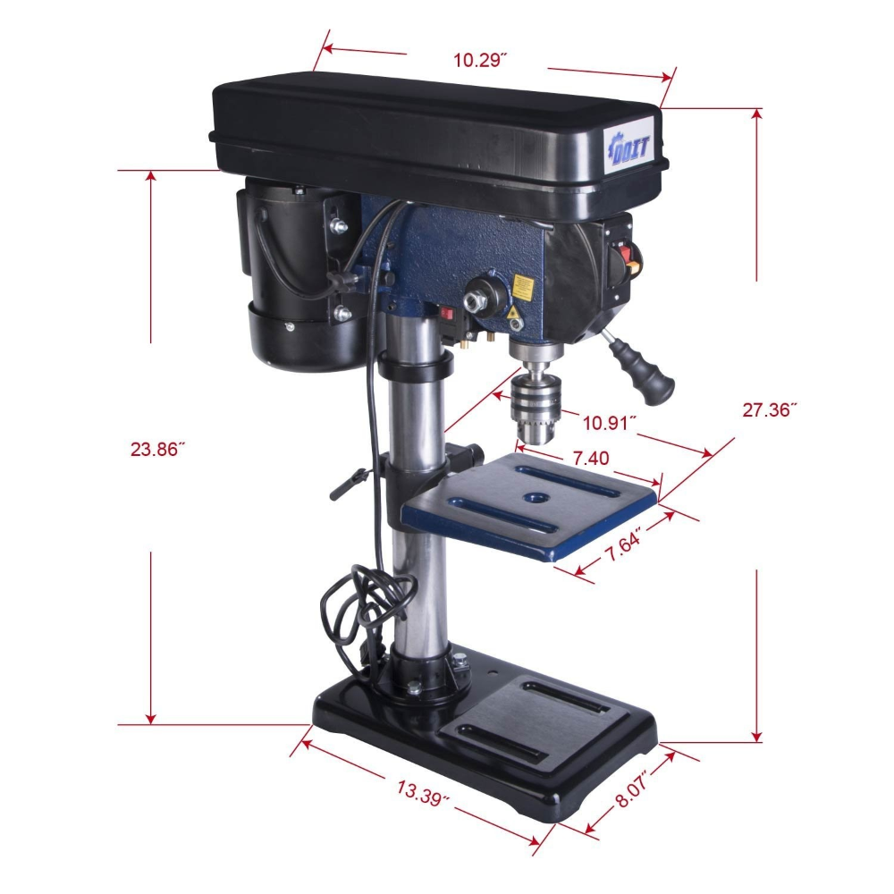 Doitpower 10 Inch 12 Speed Drill Press With Laser Trac 10 Inch 12 Speed Drill Press With Laser Speed Drills Drill Press Drill