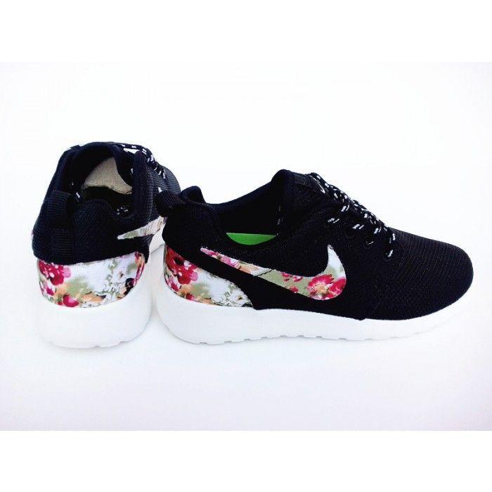 Nike Roshe Run Mesh Black Flower For Men and Women Nike